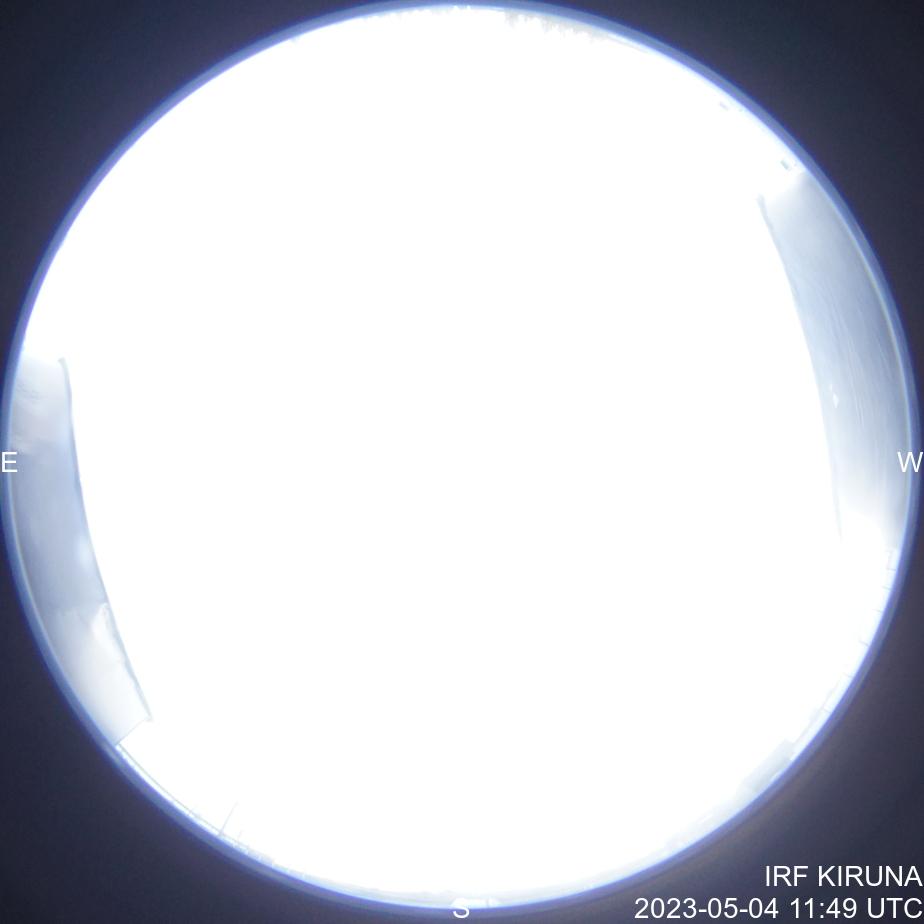 Latest image from the Kiruna allsky camera