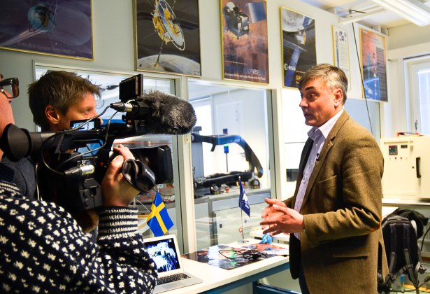 Nyhetsinslag i SVT Norrbotten om SpaceLab
