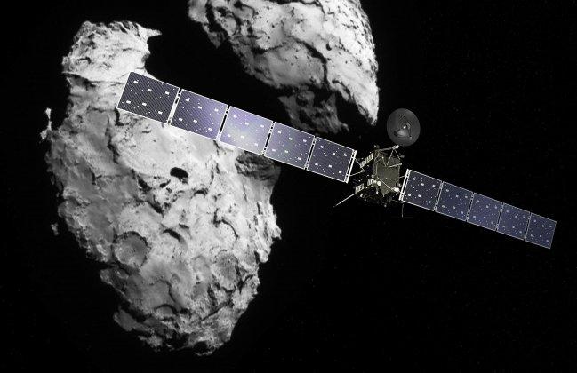 Norrsken upptäckt vid komet