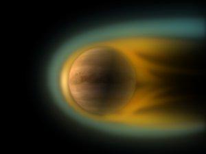 Venus and solar wind