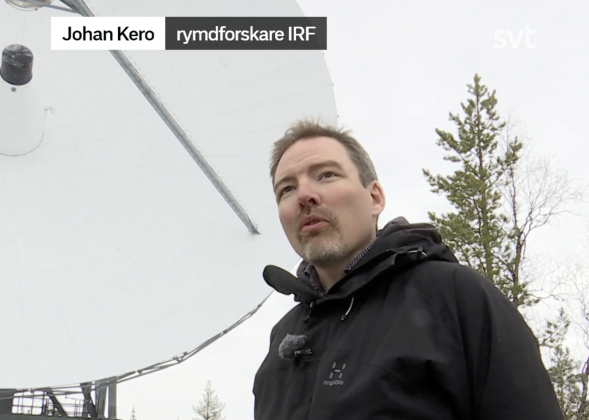 IRF-forskaren Johan Kero i media om de vetenskapliga möjligheterna med EISCAT_3D