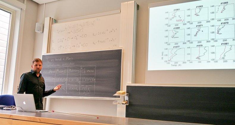 Docentföreläsning vid Institutet för rymdfysik i Uppsala