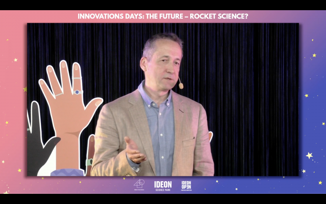 IRF scientist Peter Wintoft about space weather during Innovation Days