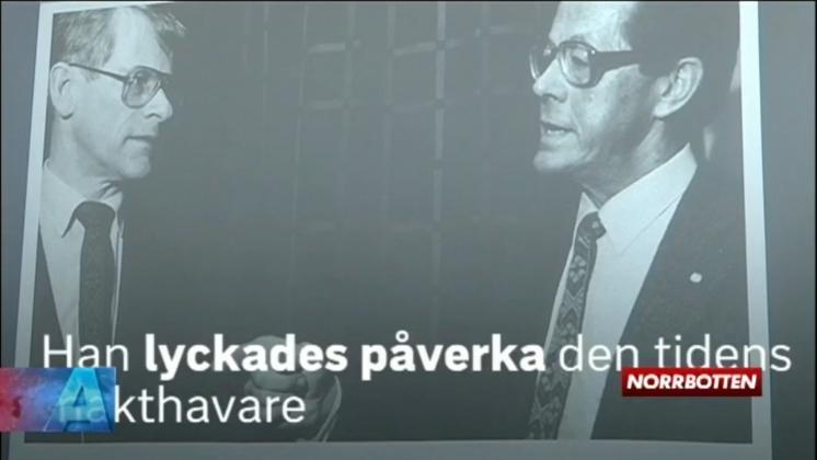 Inslag om Bengt Hultqvist i SVT