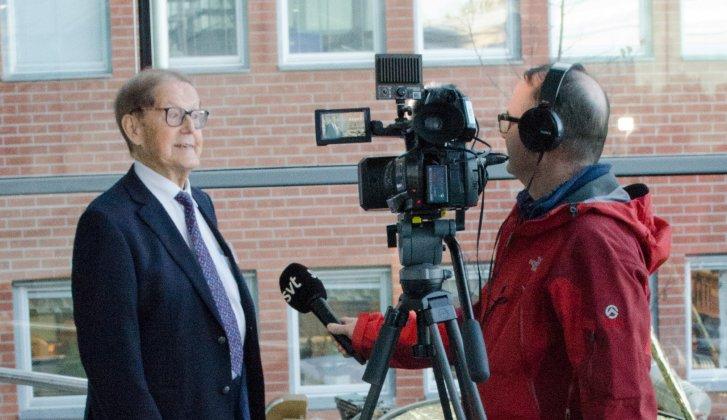 Intervjuer med IRF:s grundare Bengt Hultqvist när IRF firade 60 år