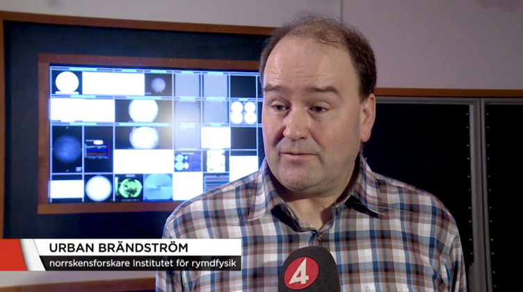 IRF-forskare i TV4-nyheterna om norrsken