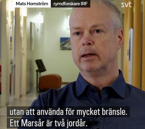 IRF-forskare om planeten Mars i SVT