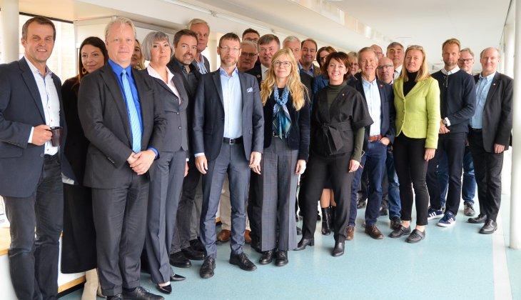Rymdministern träffade organisationerna på Rymdcampus