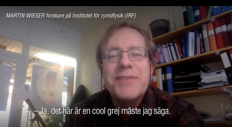 Pressinslag med IRF-forskare