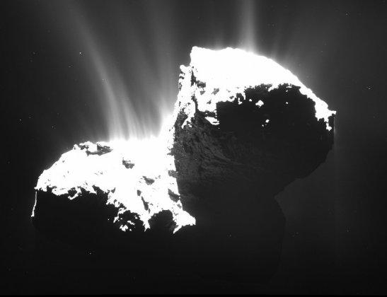 En magnetosfär blir till – observationer från en komet