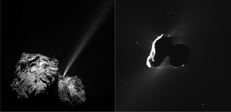 Brist på UV-ljus ger ny bild av det stoft kometer består av