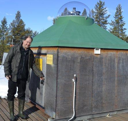 Radiointervju med IRF:s Urban Brändström om norrsken