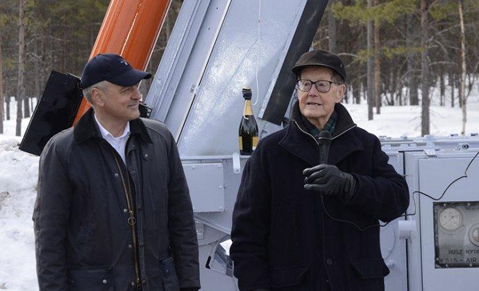 Rymdpionjären Bengt Hultqvist 90 år
